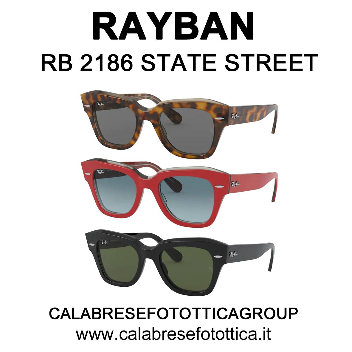 RAYBAN SOLE RB 2186 STATE STREET DA PHOTO + OPTICAL VIA CALZOLERIE 1/E BOLOGNA CENTRO QUADRILATERO