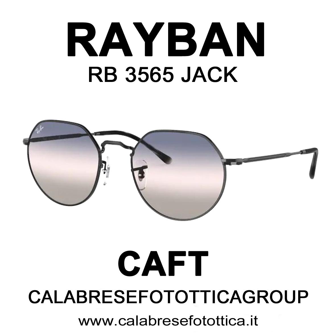 RAYBAN SOLE RB 3565 JACK DA CAFT CALABRESE FOTOTTICA GROUP VIA EMILIA 68/72 SAN LAZZARO DI SAVENA